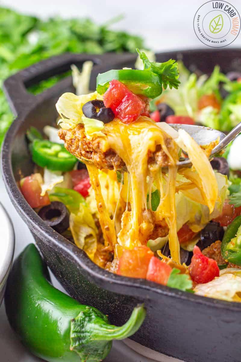 Cheesy Mexican Taco Skillet