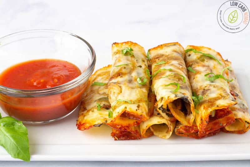 Easy Keto Pizza Roll-Ups