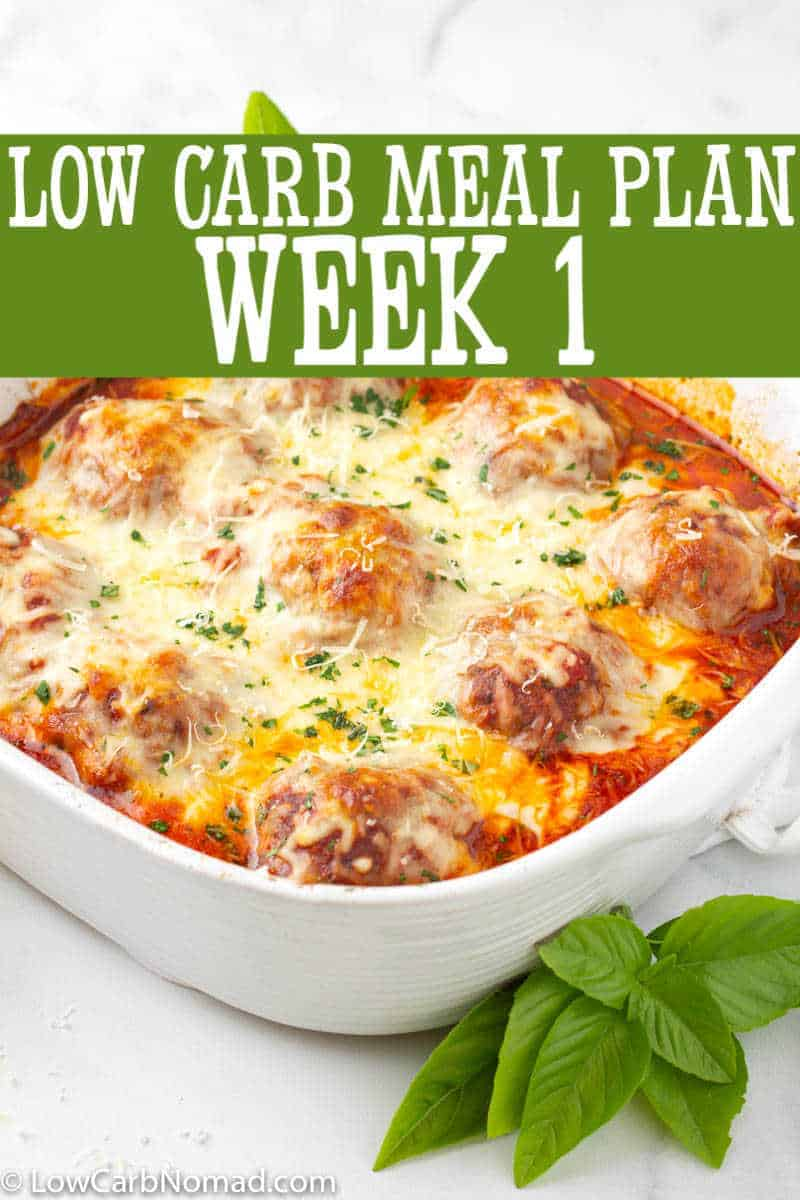 LOW CARB MEAL PLAN WEEK 1