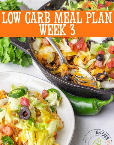Low Carb Meal Plan Week 3