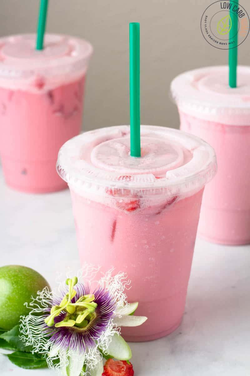 Passion Fruit Iced Tea - Keto Copy Cat Starbucks Legally Blonde drink