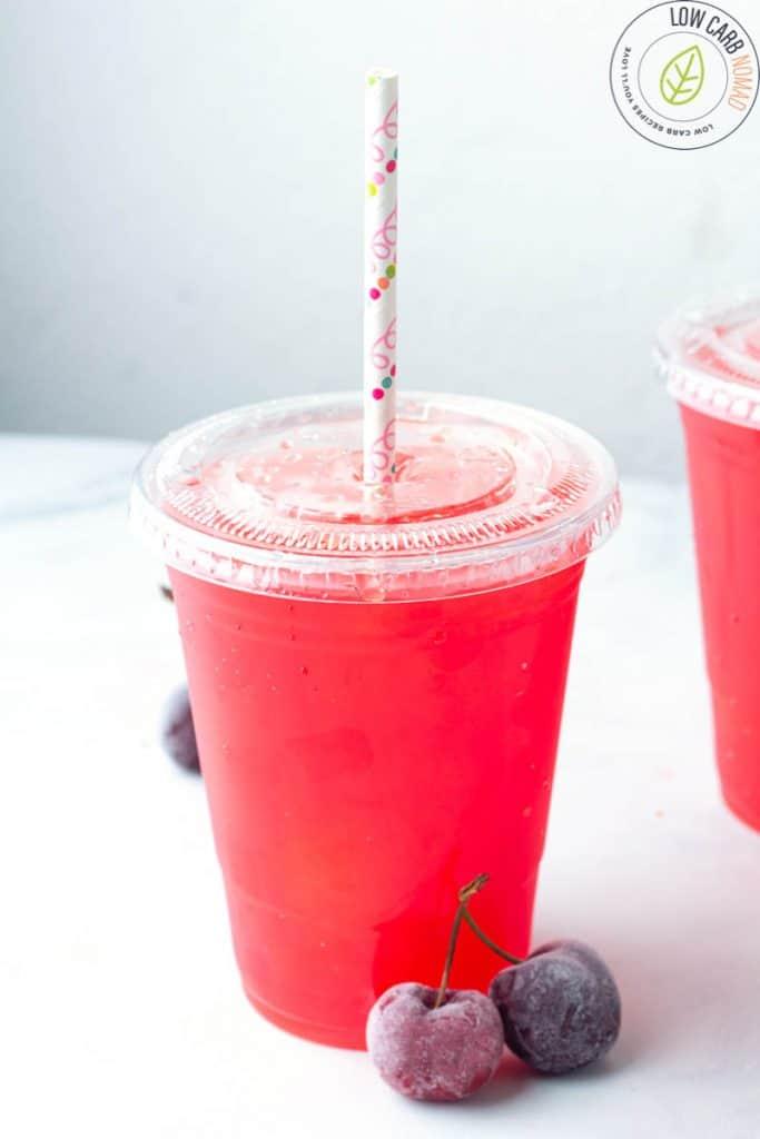 Sugar Free keto Slushie  in a cup