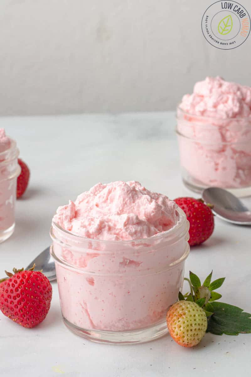 keto Strawberry Mousse