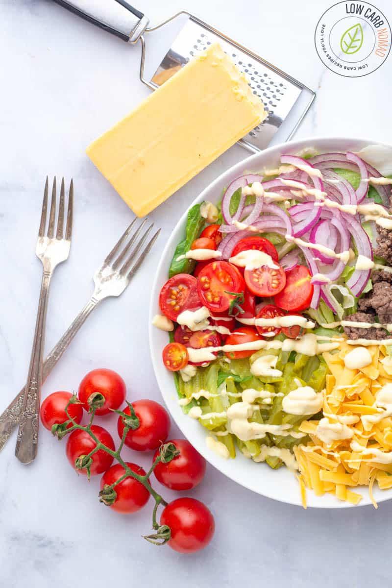 Keto Big Mac Salad