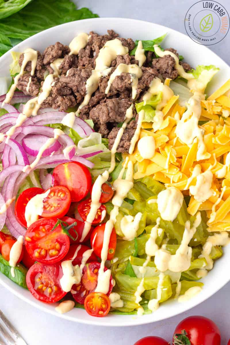 Big Mac Salad- Cheeseburger Salad