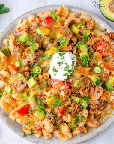 Low Carb Nachos on a plate