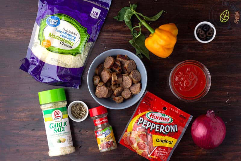 Keto Crustless Pizza Ingredients