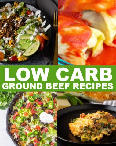 LOW CARB GROUND BEEF RECIPES