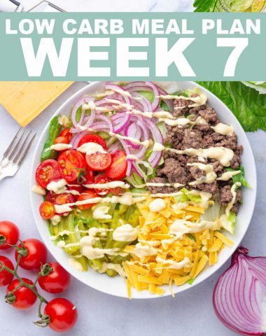 LOW CARB MEAL PLAN WEEK 7