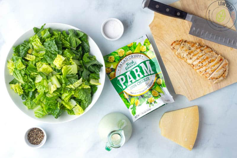 Low Carb Caesar Salad with Chicken ingredients