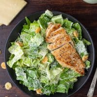 Low Carb Caesar Salad with Chicken