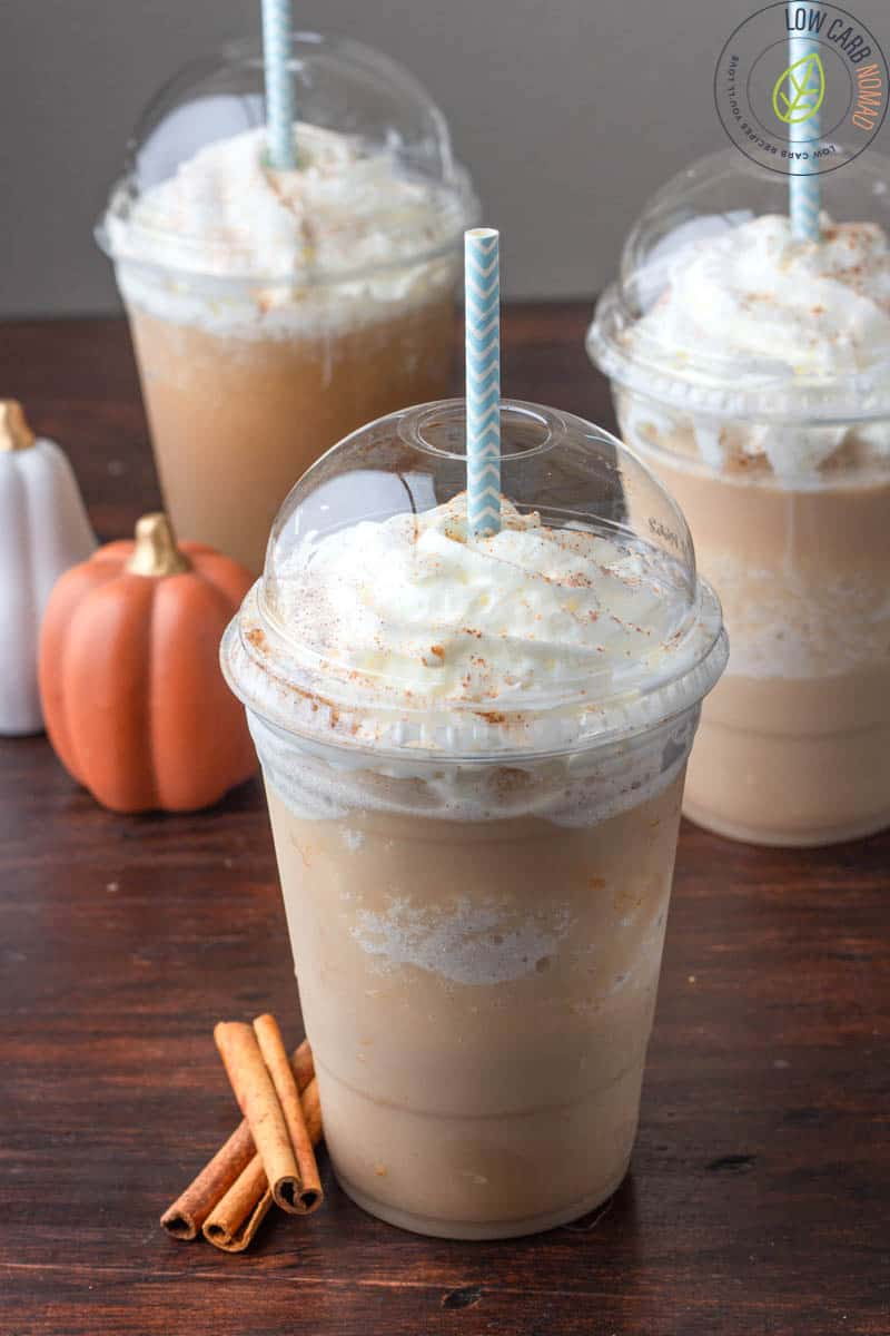 Low Carb Pumpkin Spice Frappuccino