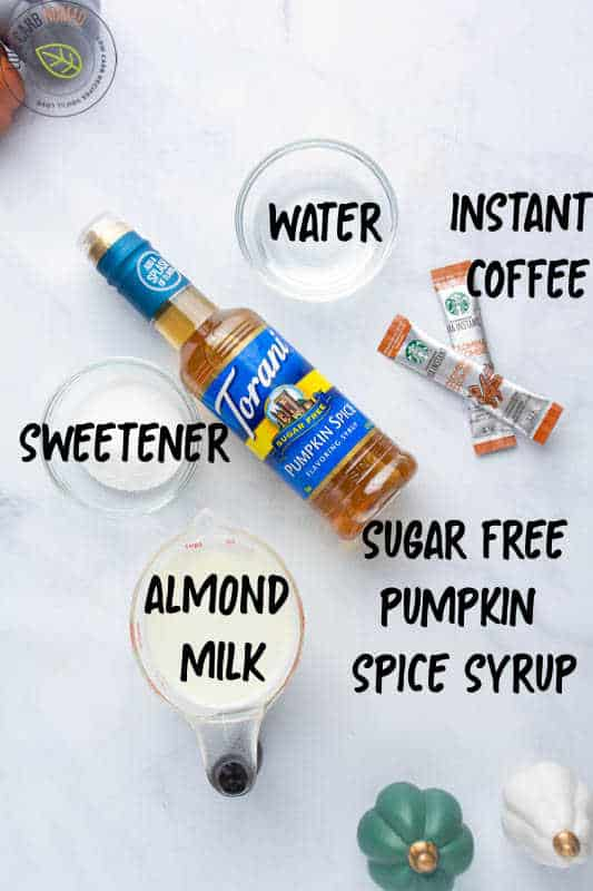 Low Carb Pumpkin Spice Whipped Coffee IINGREDIENTS