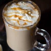 Low Carb Salted Caramel Pumpkin Spice Latte