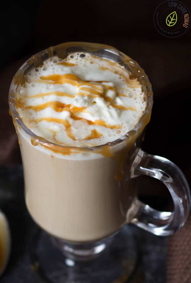 Low Carb Salted Caramel Pumpkin Spice Latte