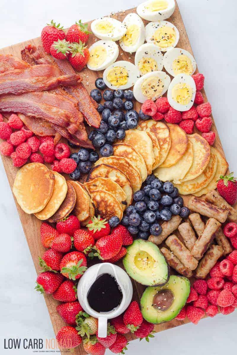 Breakfast pancake Board
