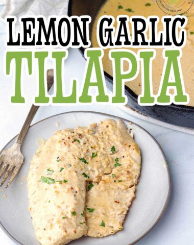 Lemon Garlic Tilapia Recipe - LOW CARB NOMAD