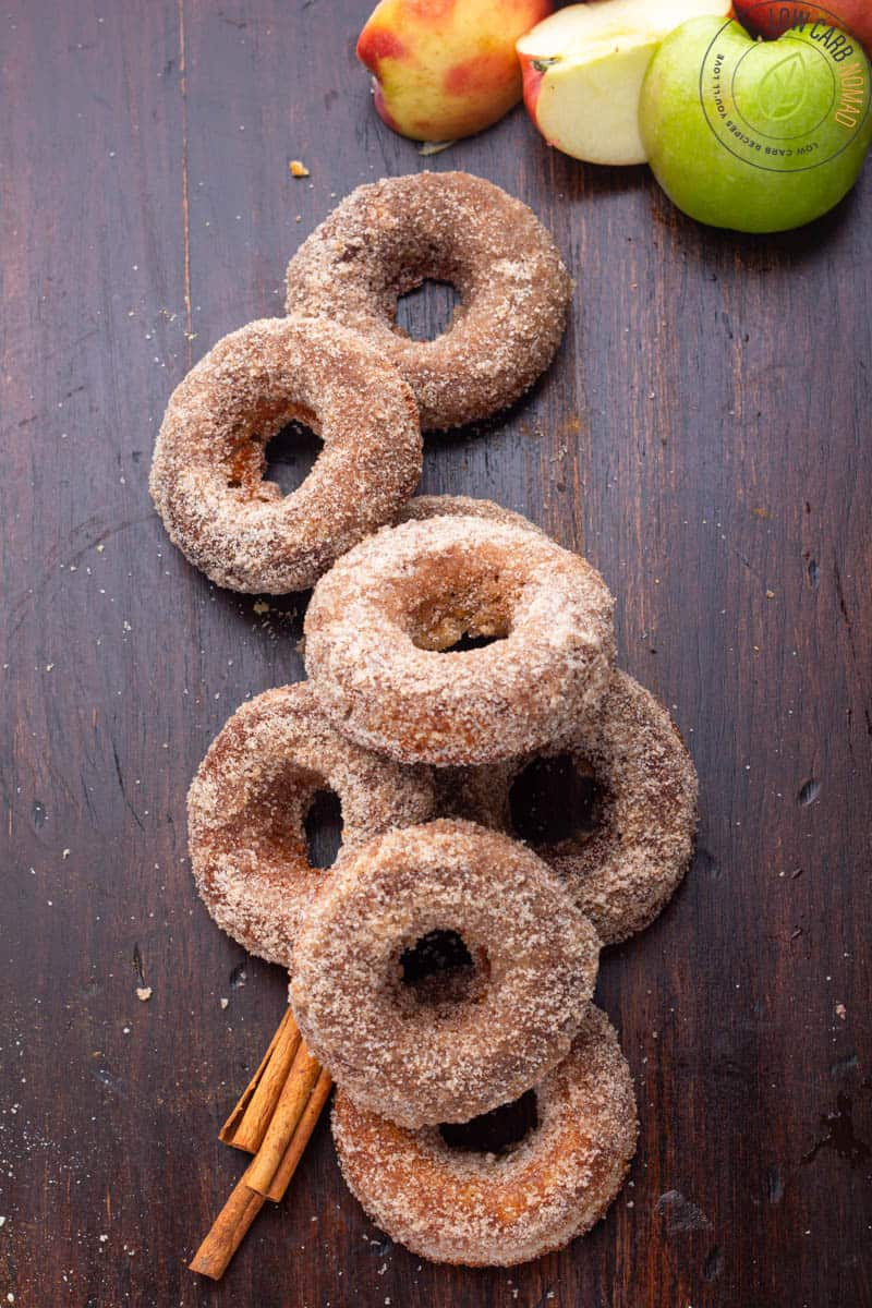 Keto donuts on a table