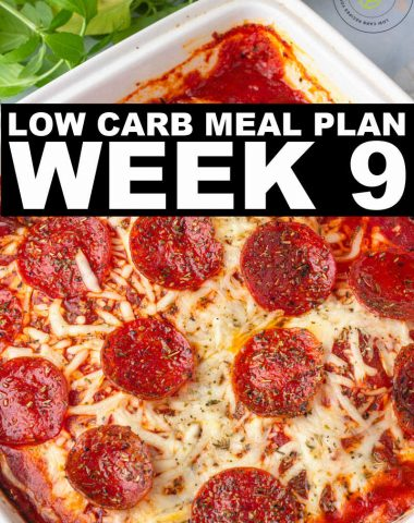 WEEK 9 LOW CARB MEAL PLAN