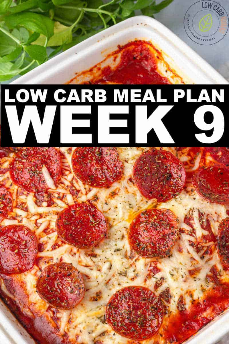 WEEK 9 LOW CARB MEAL PLAN
