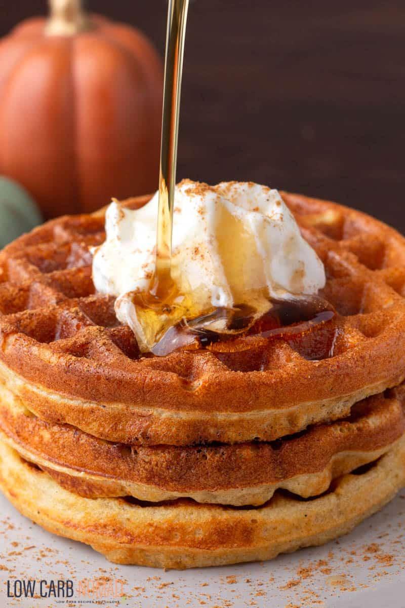 pumpkin spice keto waffle