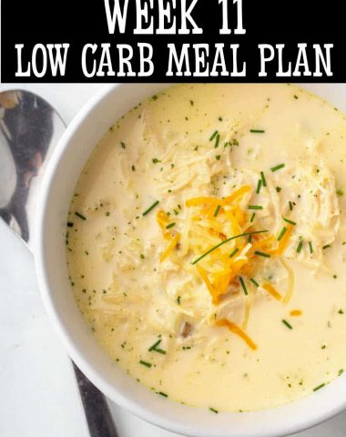 week 11 low carb meal plan