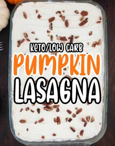Keto Pumpkin Pie Dessert Lasagna