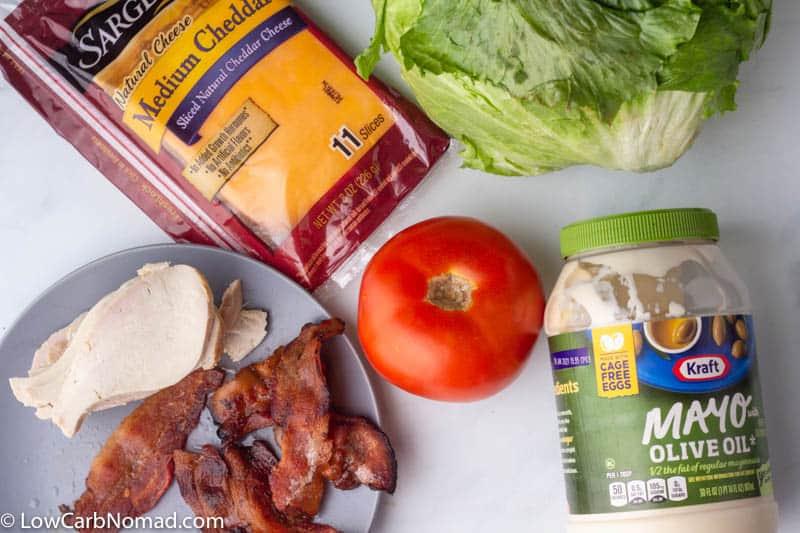 Keto Turkey Club Ingredients