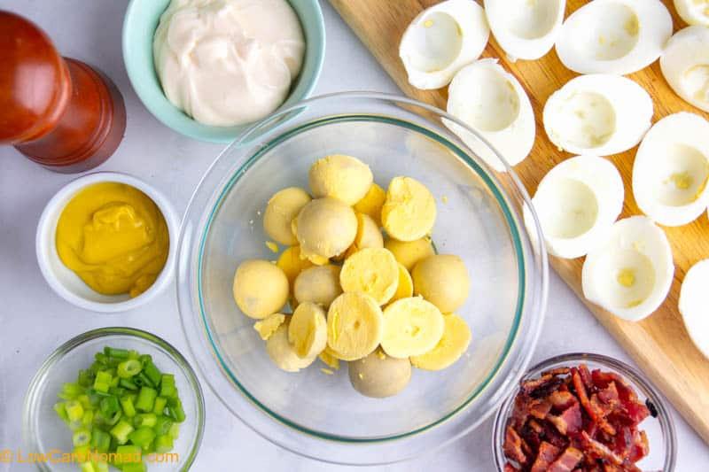 Christmas Deviled Eggs ingredients