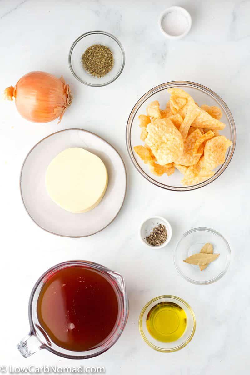 Keto French Onion Soup  ingredients