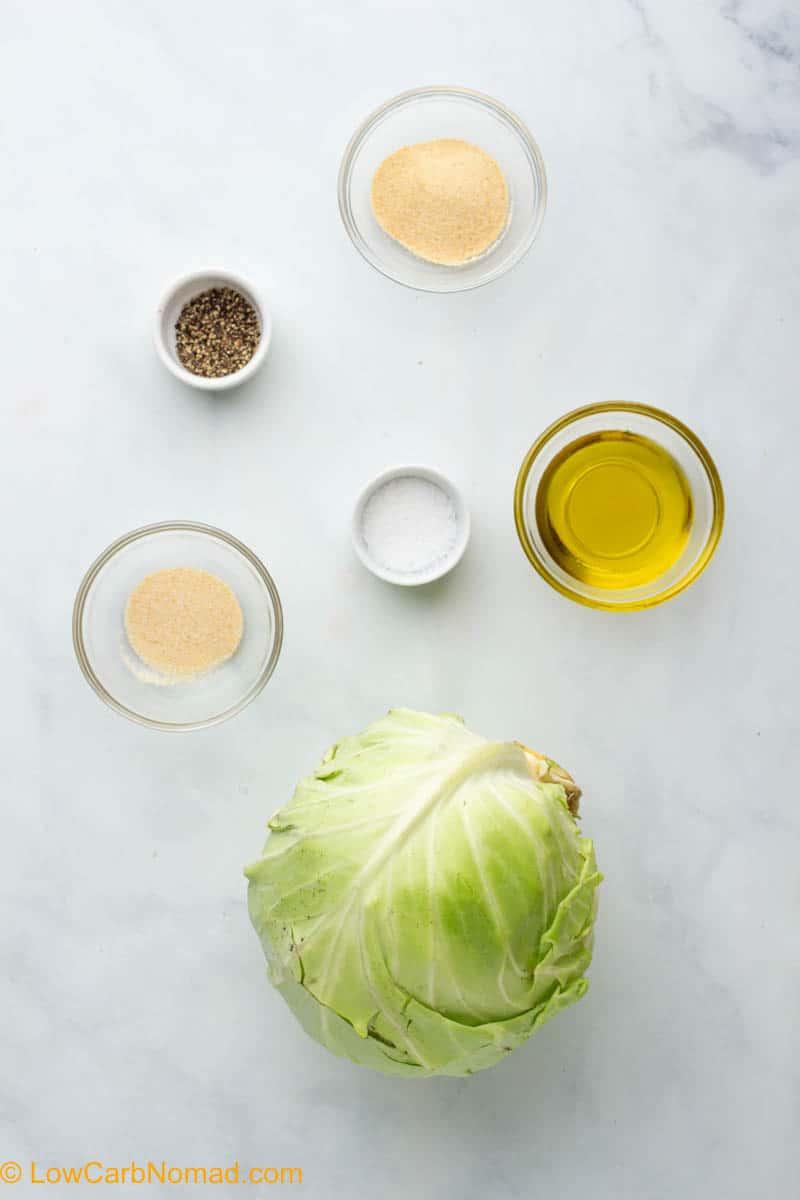 Roasted Cabbage Steaks ingredients
