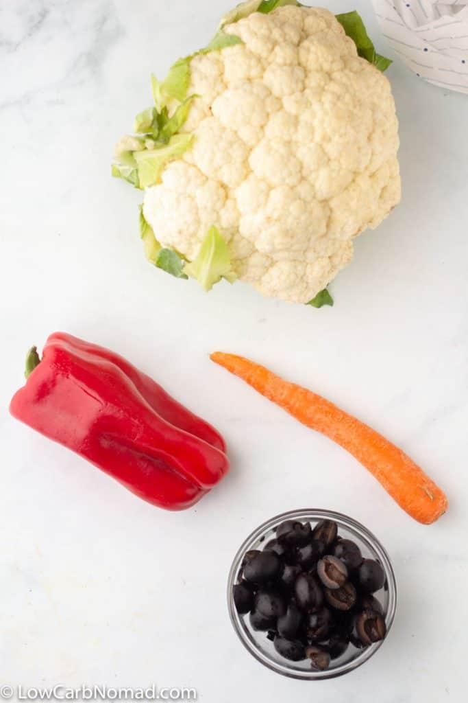 snowman low carb veggie tray ingredients