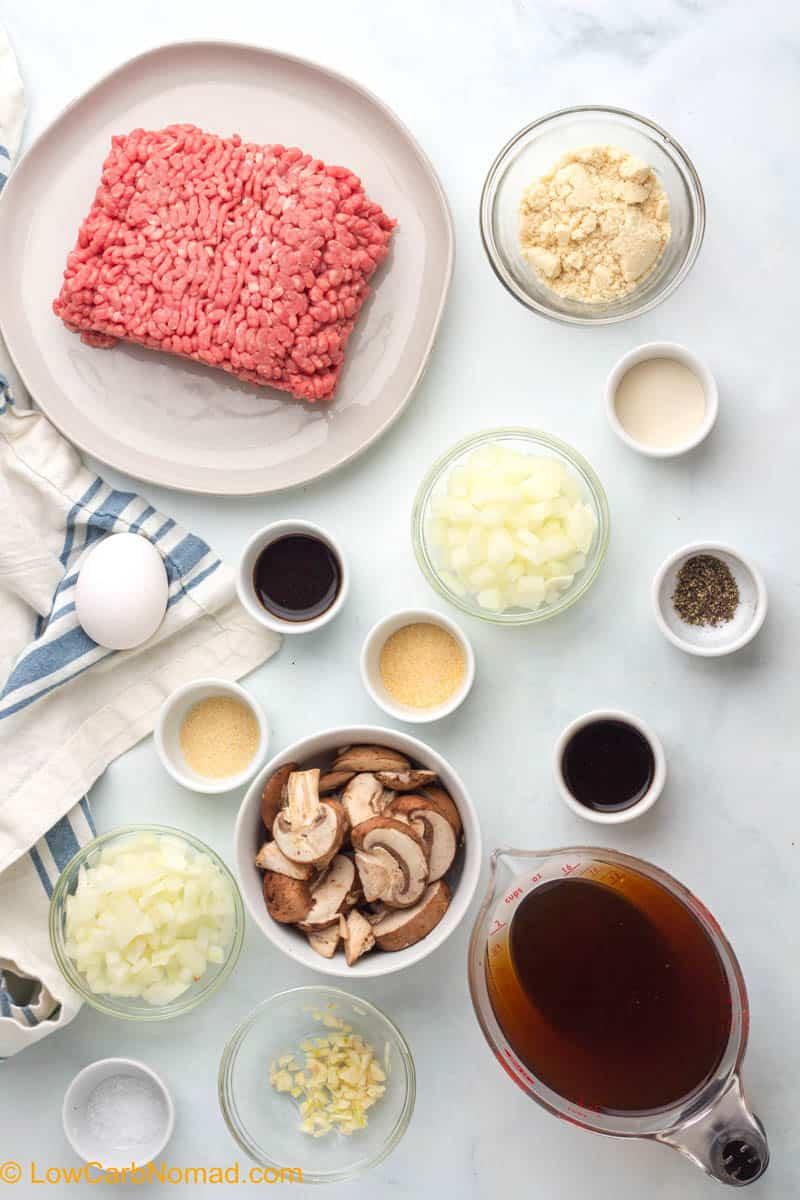 Salisbury Steak with Mushroom Gravy ingredients