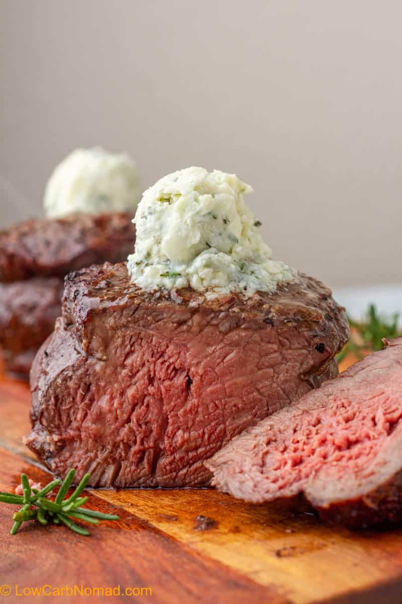 Perfect Air Fryer Steak with Blue Cheese Butter
