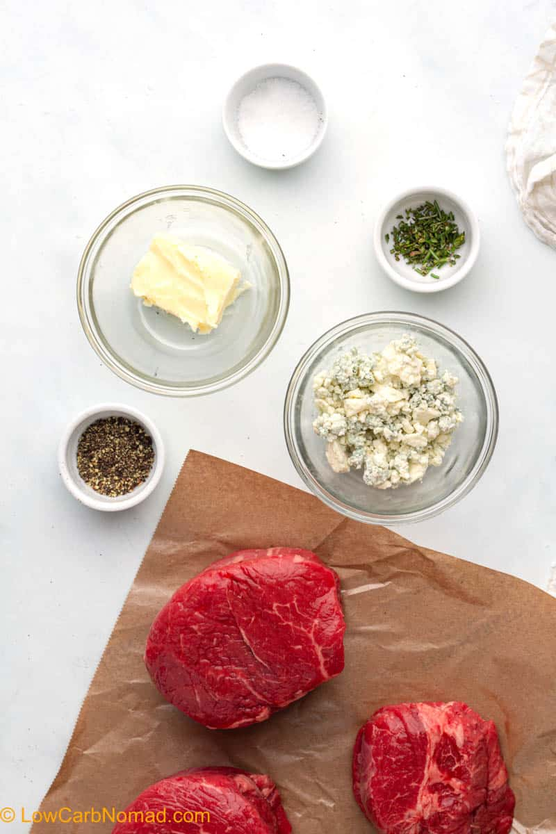 Perfect Air Fryer Steak with Blue Cheese Butter ingredients