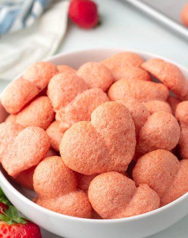Sugar-Free Keto Strawberry Meringues