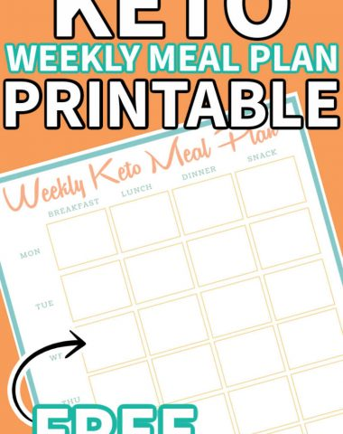 keto meal plan printable