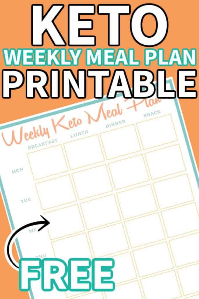 keto meal plan printable