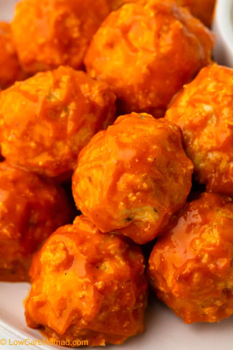 close up of Buffalo Chicken Meatballs