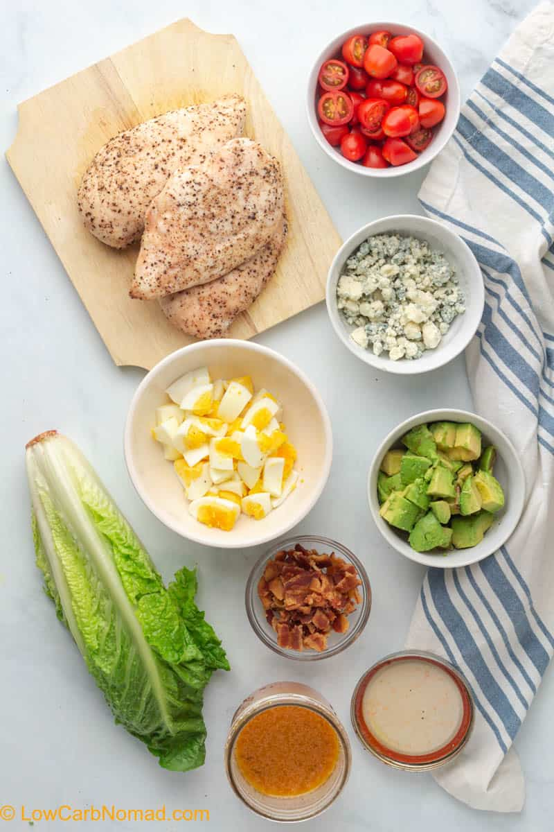 Chicken Cobb salad ingredients