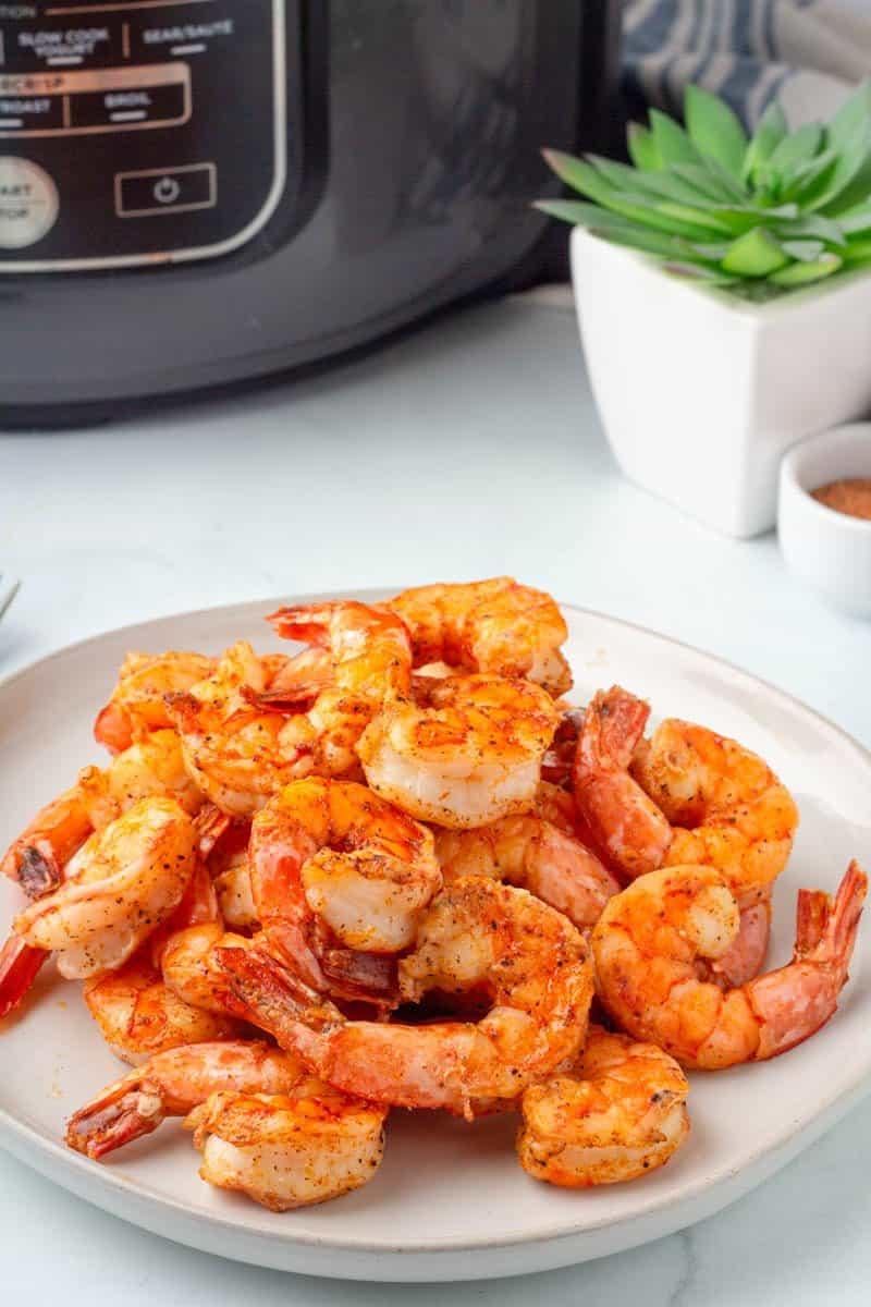Air Fried Cajun Shrimp on a plate