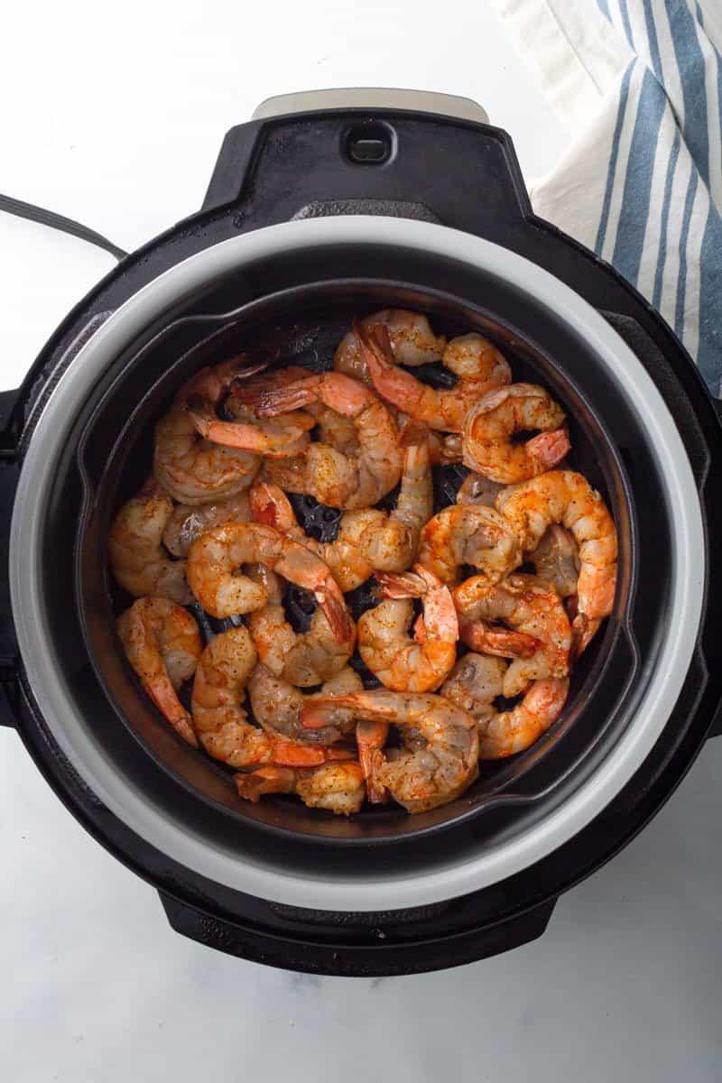 shrimp cooked half way