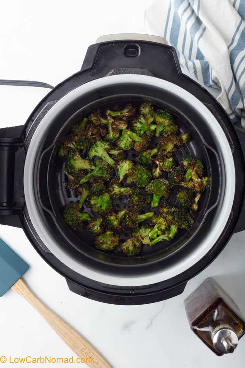 cooked broccoli in air fryer