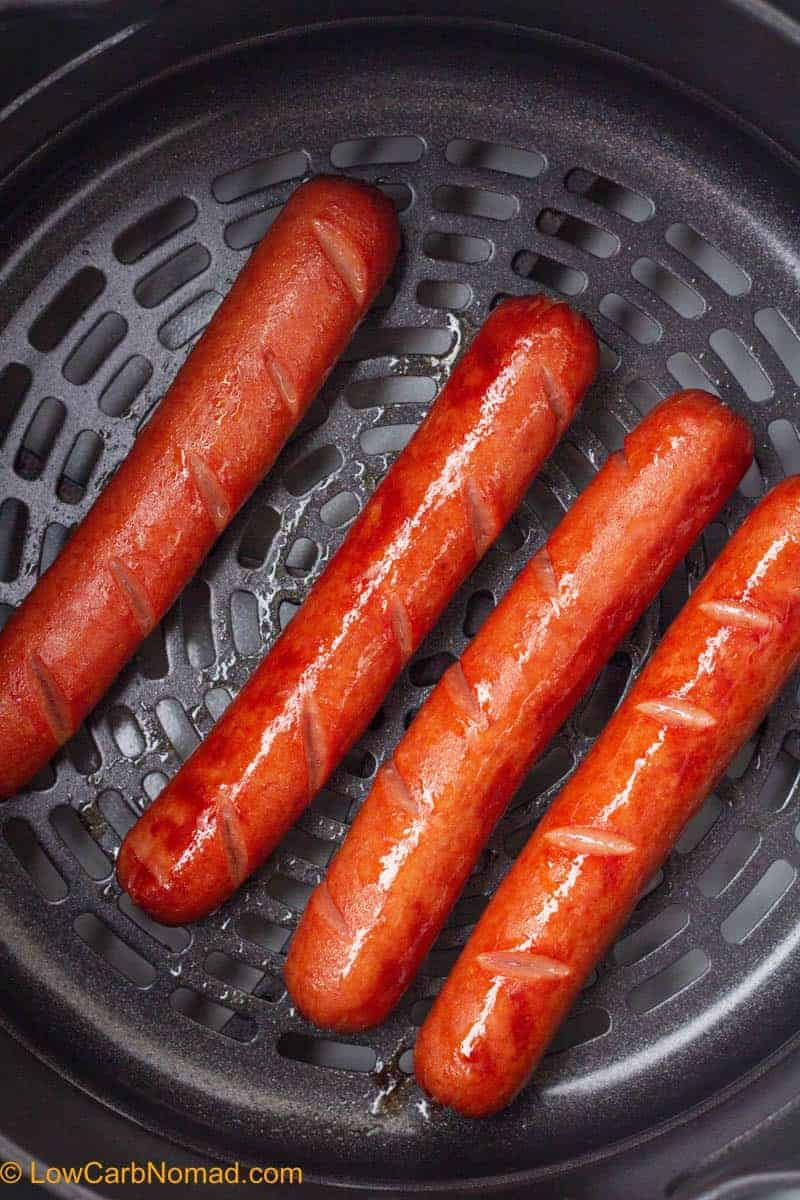Air Fried Hot Dogs