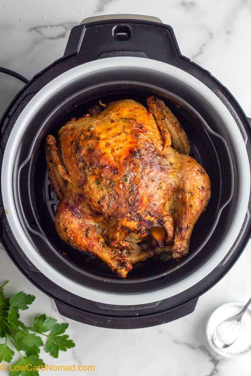 Air Fryer Whole Chicken in the air fryer