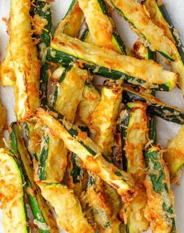 Keto Zucchini Fries close up photo