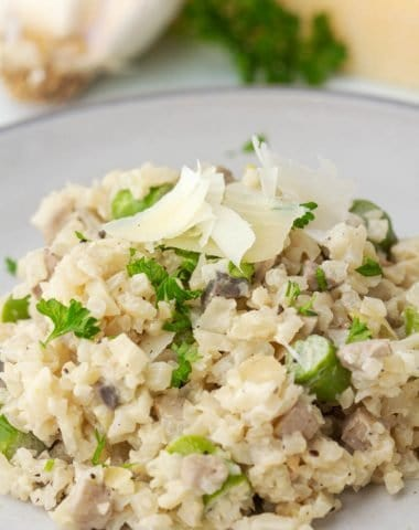 close up photo of Cauliflower Risotto