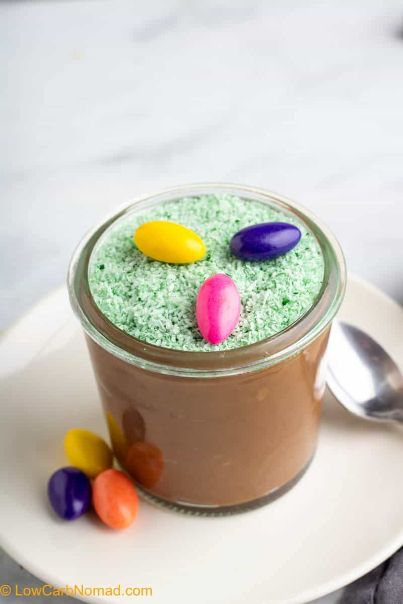 Easter Sugar Free Chocolate Coconut Pudding