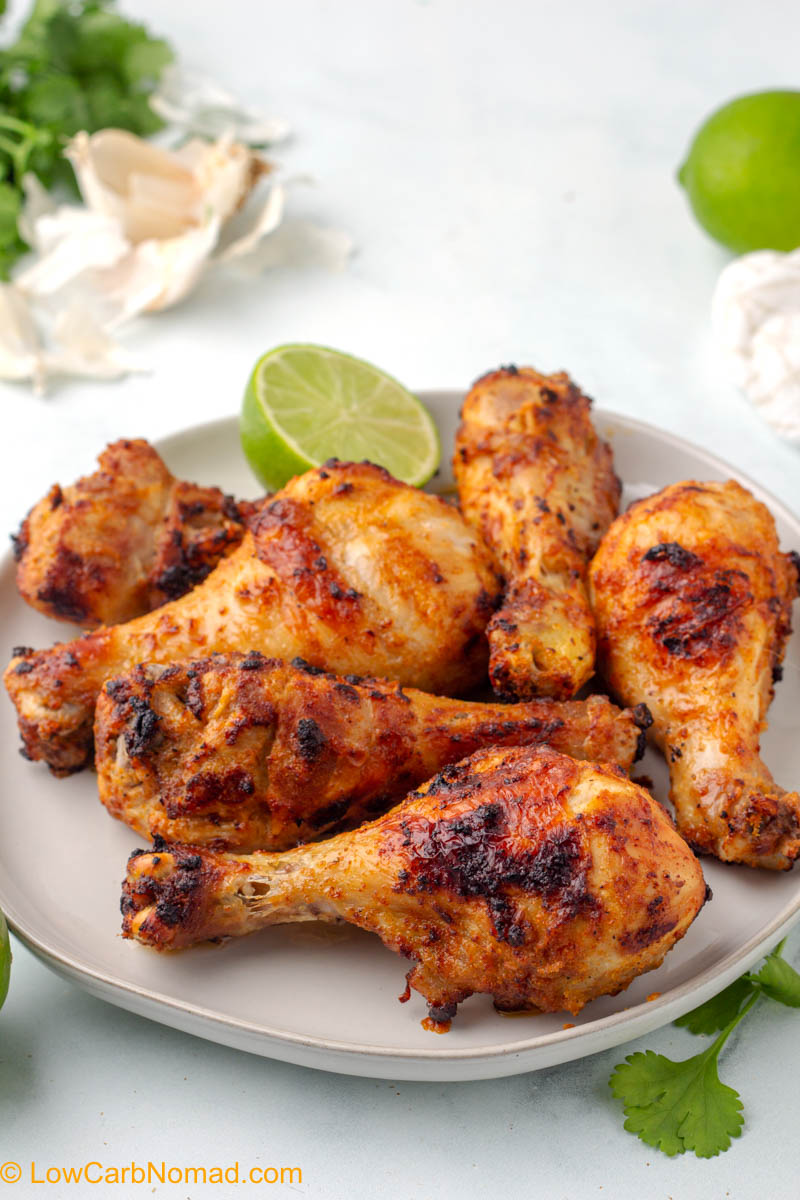Garlic Lime Air Fryer Chicken Legs