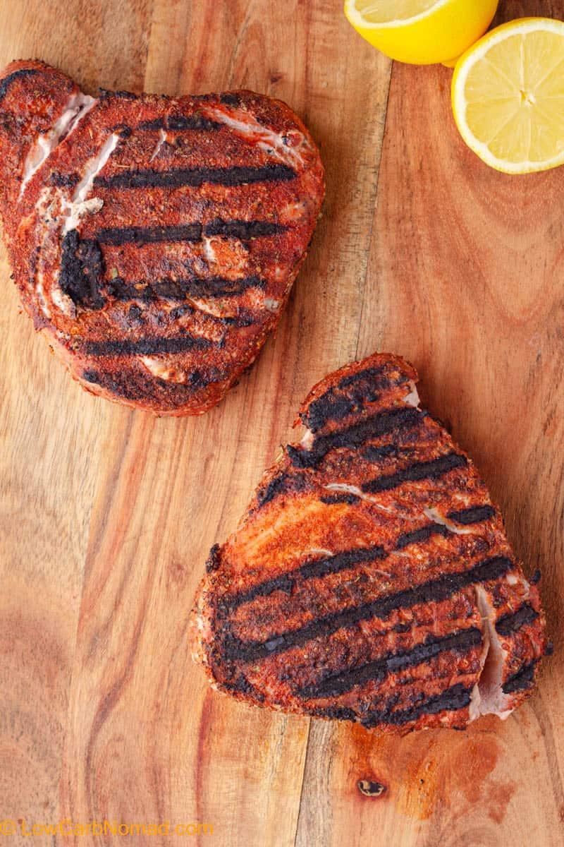 Grilled Blackened keto Tuna Steaks